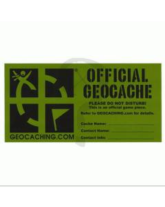 Large Geocache Decal